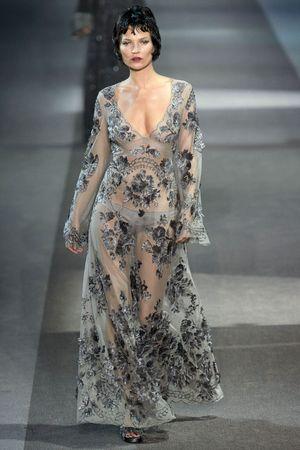 Kate Moss, Louis Vuitton show, Autumn Winter 2013, Paris Fashion Week