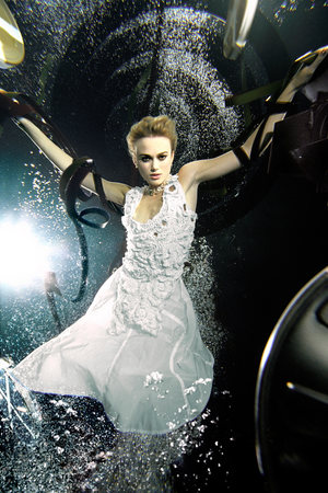 Keira Knightley in an underwater photoshoot for Candice and social enterprise fresh2o