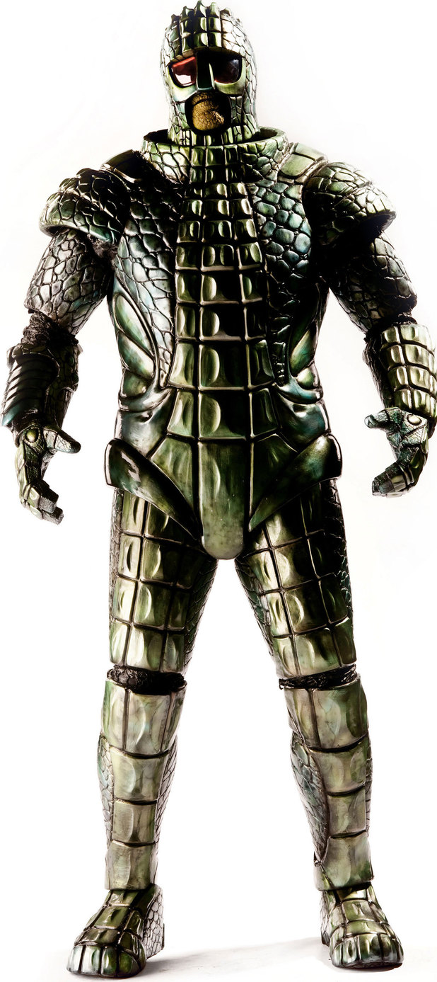 The redesigned Ice Warrior from 'Doctor Who'.
