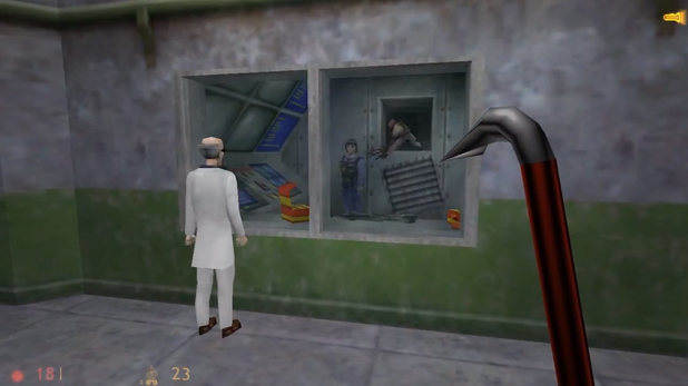 gameplay screenshot of Half-Life for PC