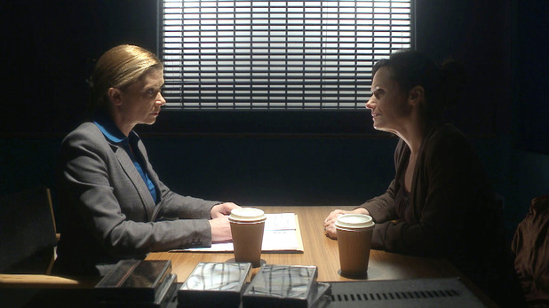 Emma Reid is quizzed by DI Collier