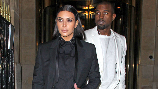 Kim Kardashian and Kanye West leave their hotel and head to the Givenchy show and the Diesel show at Paris Fashion Week