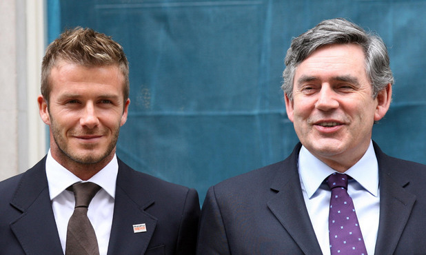 David Beckham, Gordon Brown
