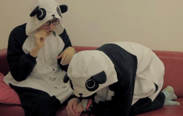McFly recreating sneezing baby panda for WWF's Earth Hour