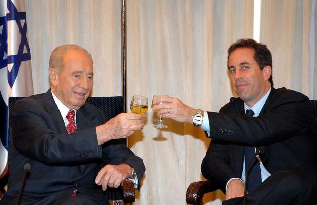 Jerry Seinfeld visiting Jerusalem, Israel, Shimon Peres