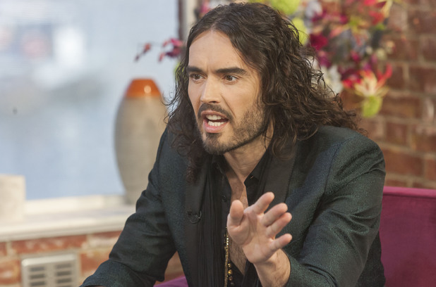 Russell Brand appears on 'This Morning'