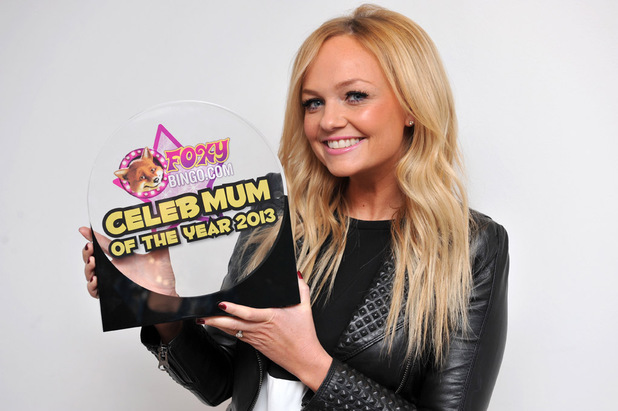 Emma Bunton wins Foxy Bingo Celebrity Mum of the Year.