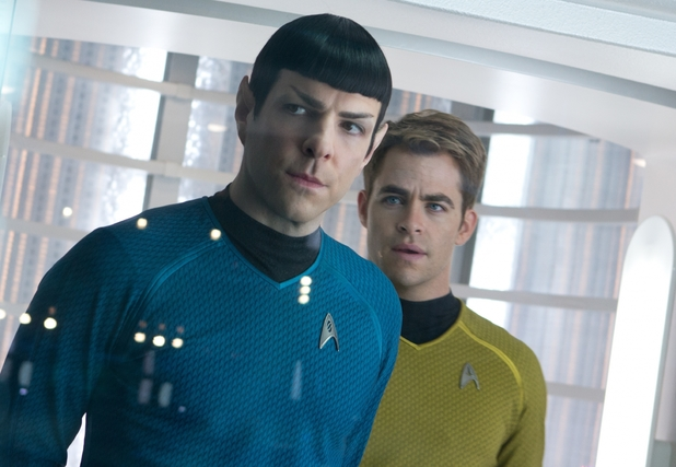 Star Trek Into Darkness Zachary Quinto Chris Pine
