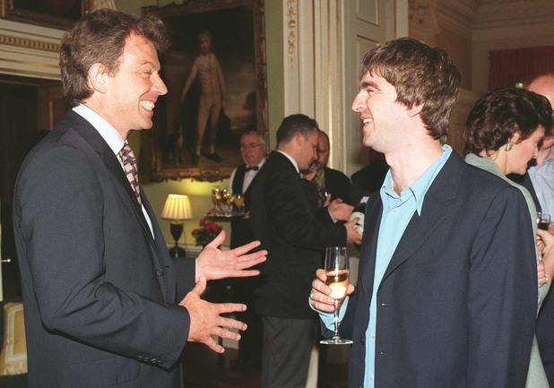 Tony Blair, Noel Gallagher, 10 Downing Street