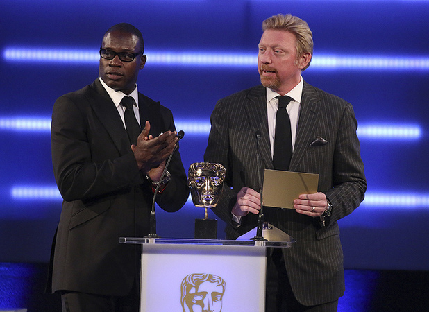 Martin Offiah and Boris Becker
