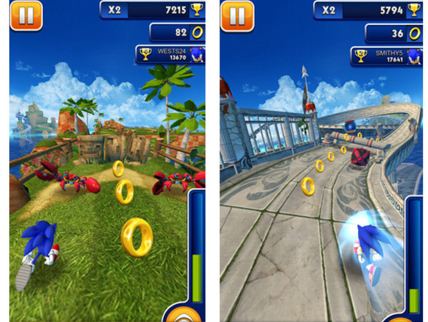 'Sonic Dash' screenshot