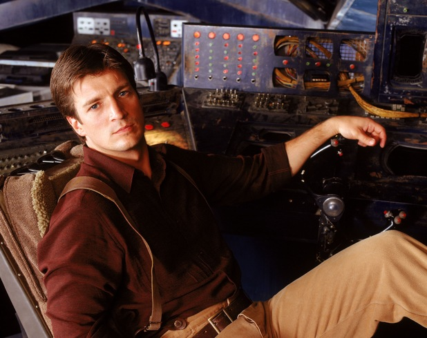 Nathan Fillion as captain Reynolds in 'Firefly'