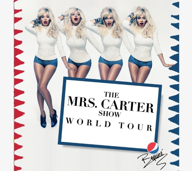 Beyonce's 'Mrs Carter Show' world tour poster