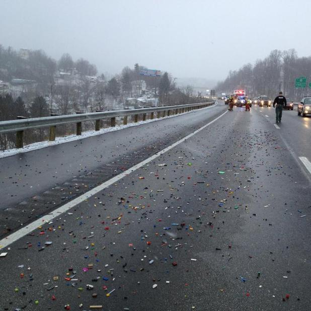 Lego spill on highway