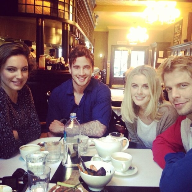 Donna Air posted a picture of Sunday lunch with Kelly Brook and Danny Cipriani