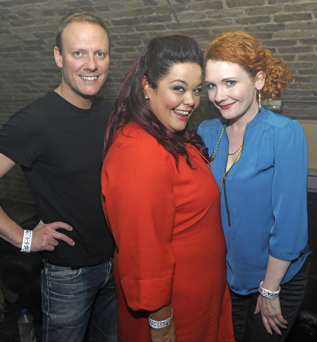 Antony Cotton, Jennie McAlpine and Lisa Riley