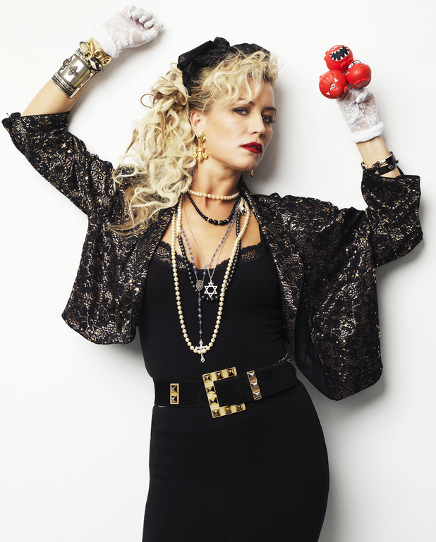 Denise Van Outen recreates Madonna's 'Desperately Seeking Susan' for Red Nose Day