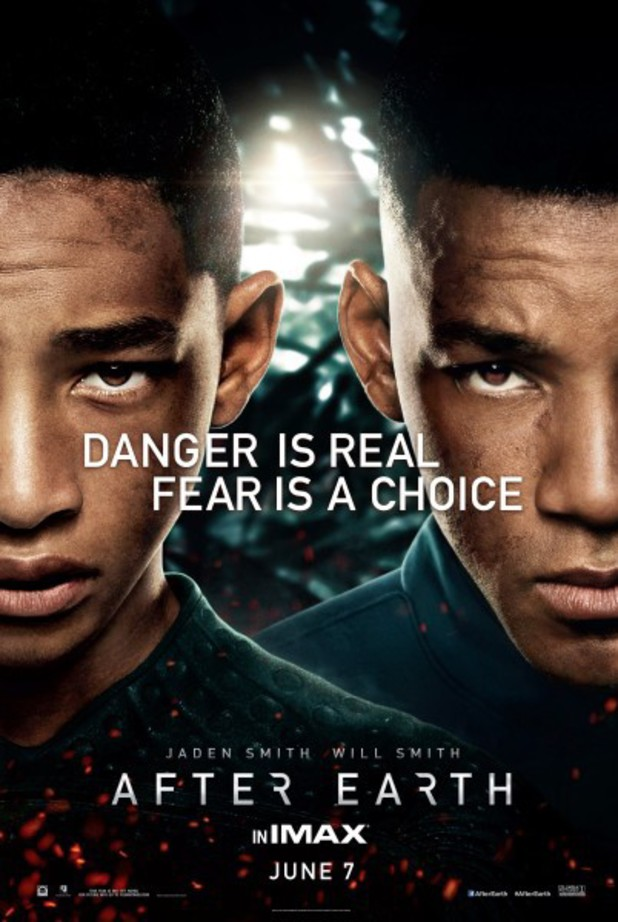 'After Earth' poster featuring Will Smith and Jaden Smith