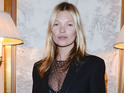 Kate Moss, sheer catsuit, Paris Fashion Week