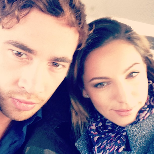 Kelly Brook posts a picture of herself with Danny Cipriani to Instagram