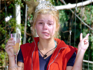 Kerry Katona winning I'm a Celebrity in 2004.