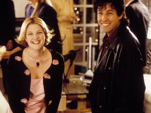 Drew Barrymore and Adam Sandler in 'The Wedding Singer'