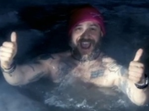 Tom Hardy goes skinny dipping in Siberia.