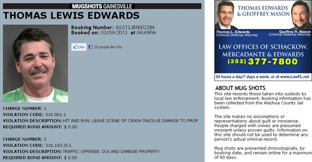 Thomas Lewis Edwards mug shot