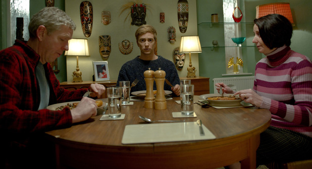 In The Flesh S01E01: Steve (Steve Cooper), Kieran (Luke Newberry) and Sue (Marie Chritchley)