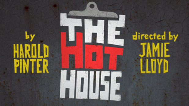 A poster for Jamie Lloyd's 'The Hothouse', written by Harold Pinter and starring  John Simm and Simon Russell Beale