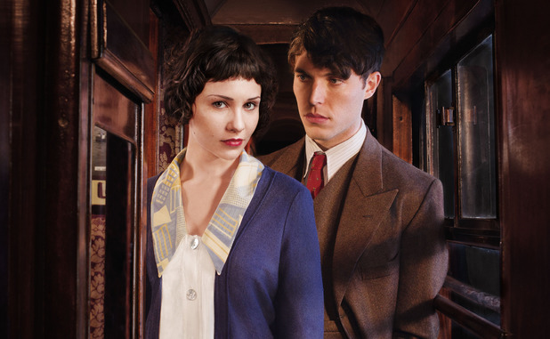 The Lady Vanishes: Iris Carr (Tuppence Middleton) and Max (Tom Hughes)