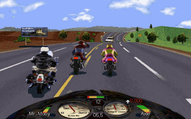 'Road Rash' screenshot