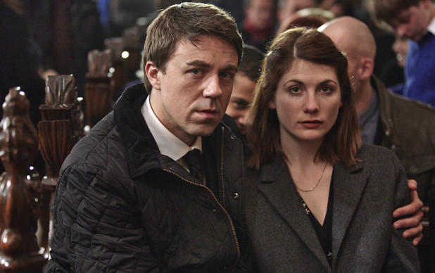 Broadchurch Episode 2: Jodie Whittaker as Beth Latimer and Andrew Buchan as Mark Latimer