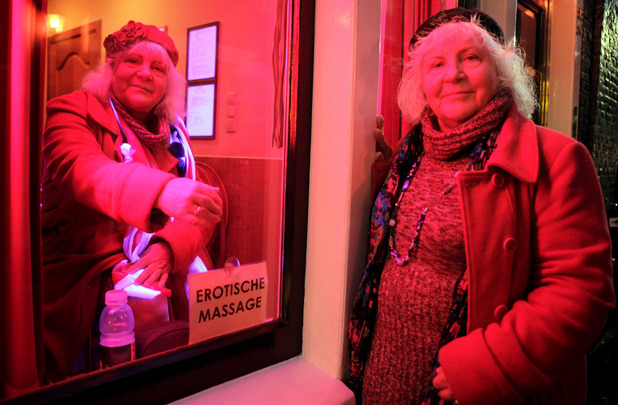 Amsterdam's oldest prostitute twins Louise and Martine Fokkens