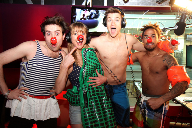 Nick Grimshaw, Sara Cox, Greg James and Dev