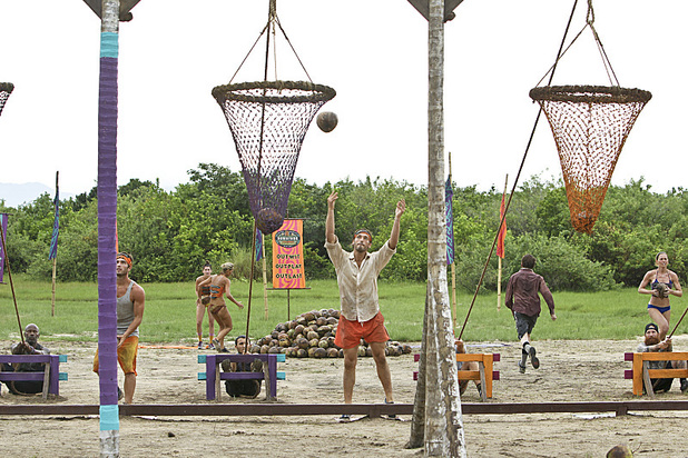 "Survivor: Caramoan - Fans vs Favourites: ""Persona Non Grata. Reynold Toepfer of the Gota Tribe competes during the Reward Challenge during the fifth episode."