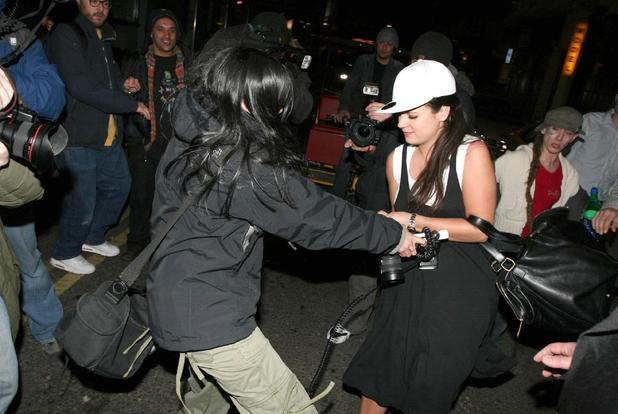 Stars attacking paparazzi