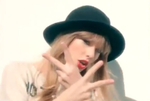 Taylor Swift in the '22' video