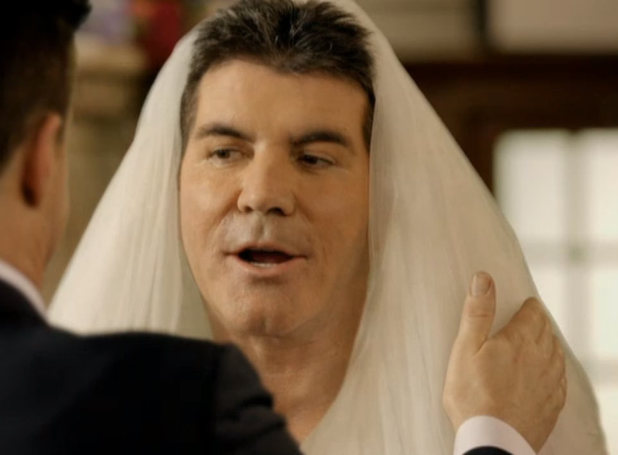 Simon Cowell marries himself in a special for Comic Relief