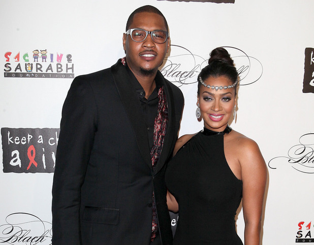 Carmelo Anthony and La La Anthony 8th Annual Keep A Child Alive Black Ball, held at the Hammerstein Ballroom