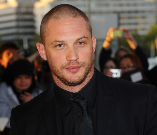 Tom Hardy, shaved head
