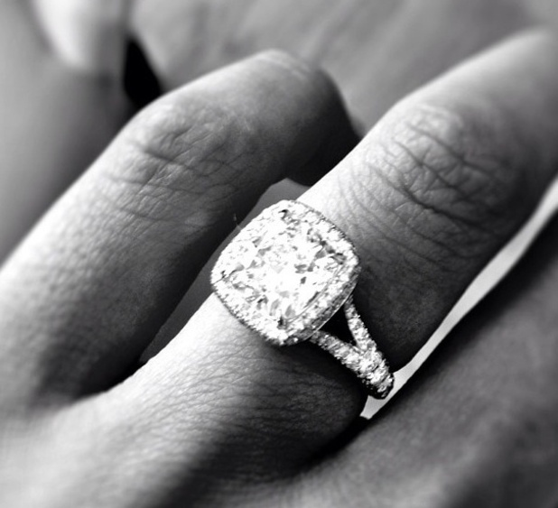 The Bachelor star Catherine Giudici shows off her engagement ring