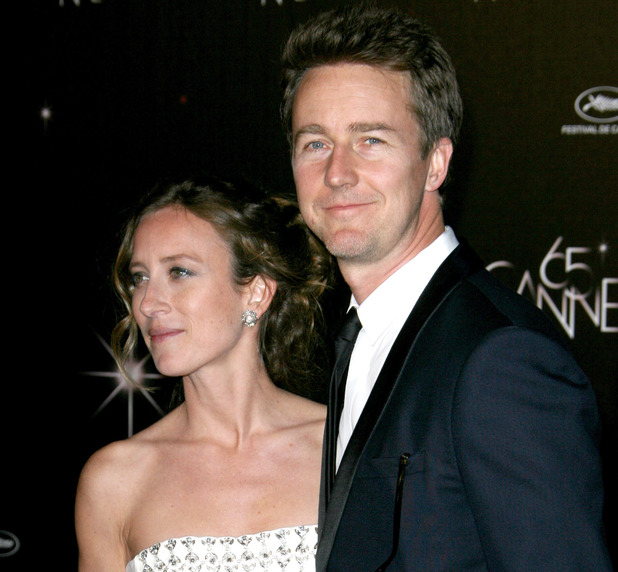 Edward Norton and Shauna Robertson at the Opening Night Gala at the 65th Cannes Film Festival, France - 16 May 2012