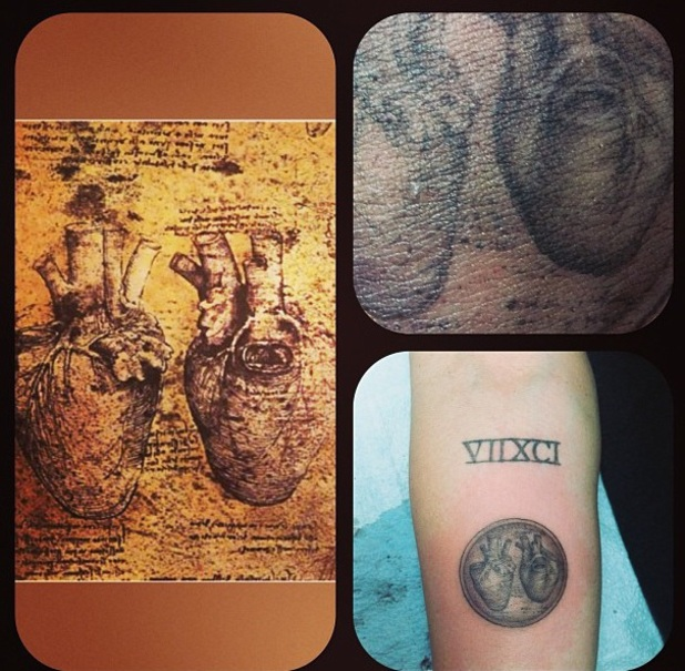 Miley Cyrus's astronomical heart tattoo by Kat Von D.