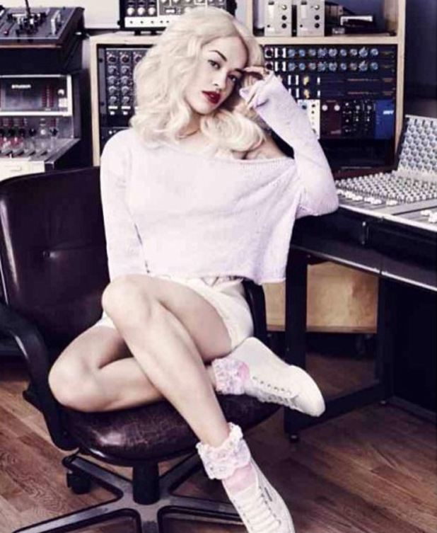 Rita Ora gives fans a sneak peek of her Superga collection.