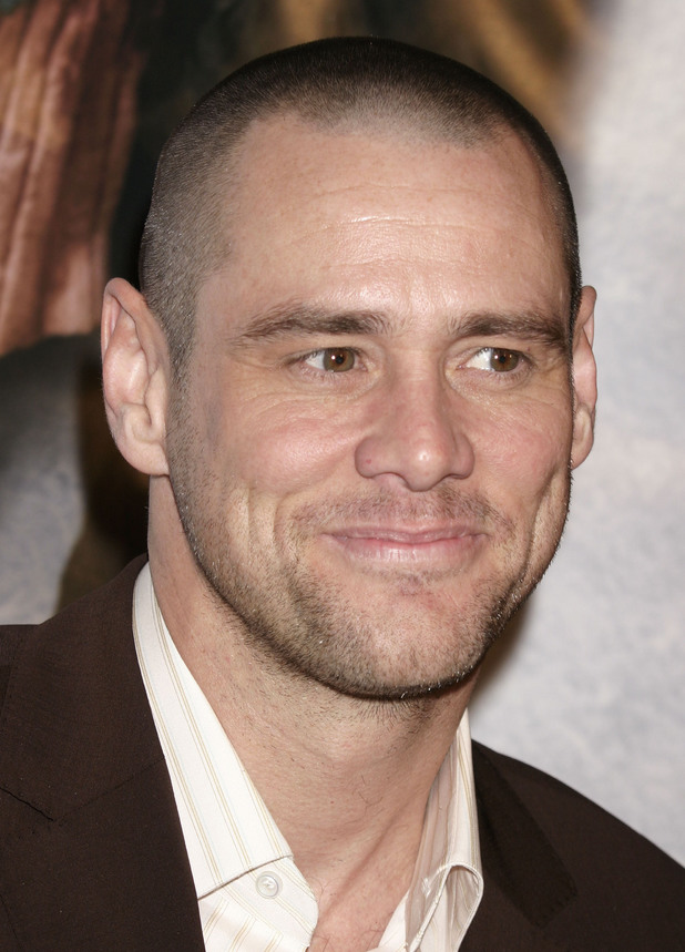 Jim Carrey, shaved head