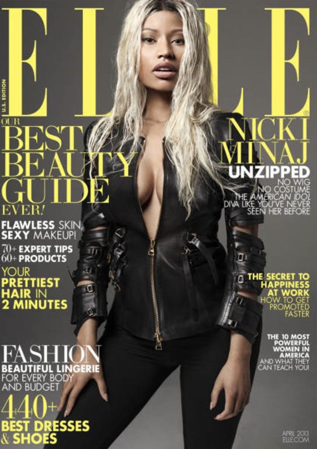 Nicki Minaj covers the April edition of 'Elle'.
