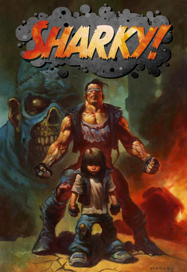 'Sharky' cover illustration