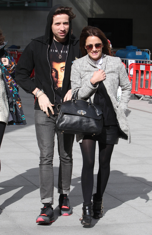 Nick Grimshaw and Caroline Flack