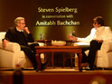 "Amitabh Bachchan describes Spielberg as ""simple, honest"" and showing ""immense candour""."